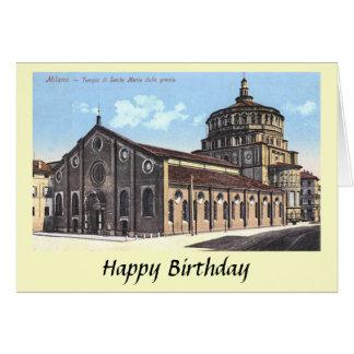 Birthday Card - Milan, S Maria delle Grazie