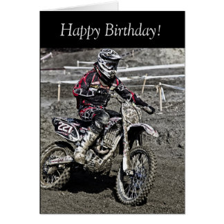 Birthday Card: Motocross Guy Card