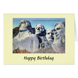 Birthday Card - Mount Rushmore, South Dakota