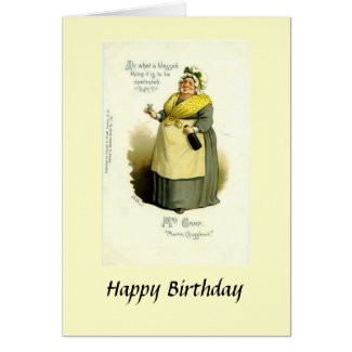 "Birthday Card - Mrs Gamp from ""Martin Chuzzlewit"""