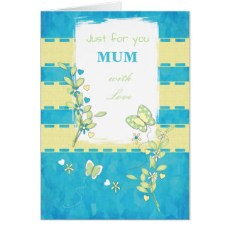 Birthday Card Mum / Mom Mother's Day Butterflies
