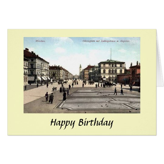 Birthday Card - Munich, Germany