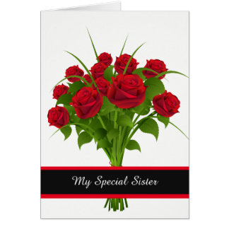 Birthday Card-My Special Sister Card