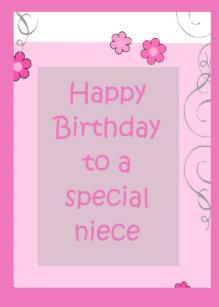A Niece Flowers Birthday Cards