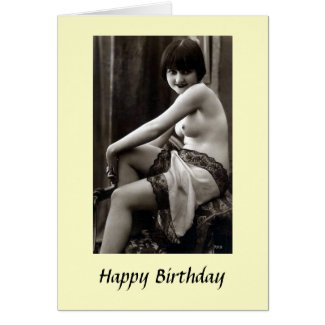 Birthday Card - Nude Girl