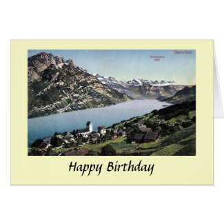 Birthday Card - Obstalden, Glarus, Switzerland.