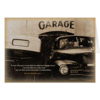 Birthday Card: Old garage Card