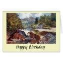 Birthday Card - Otters
