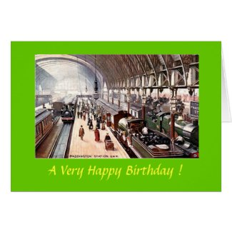 Birthday Card - Paddington Station, London