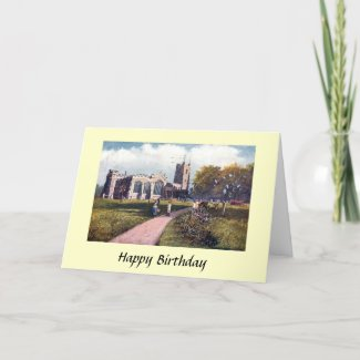 Birthday Card - Paris Church, Luton. Bedfordshire