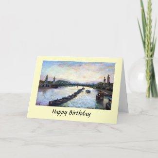 Birthday Card - Paris, Pont Alexandre III