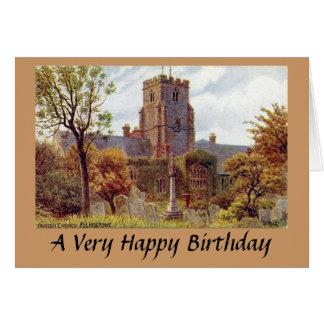 Birthday Card - Parish Church, Folkestone, Kent