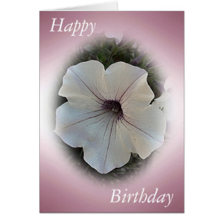 Birthday Card Pink with Petunia