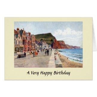 Birthday Card - Sidmouth, Devon