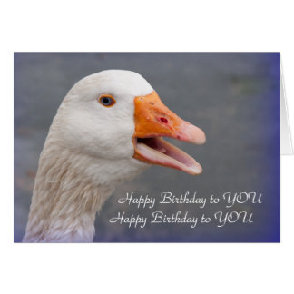 Birthday Card: Singing Goose Card