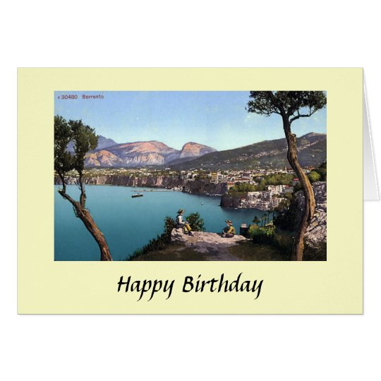 Birthday Card - Sorrento, Italy