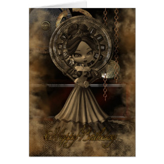 Birthday Card Steampunk Moonies Cutie Pie