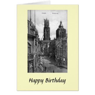 Birthday Card - Steenweg, Utrecht, Netherlands