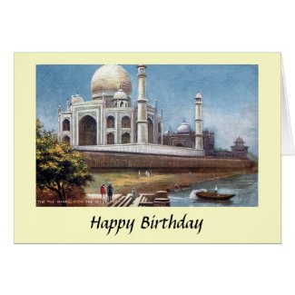 Birthday Card - Taj Mahal, Agra, India