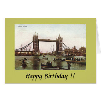 Birthday Card - Tower Bridge, London