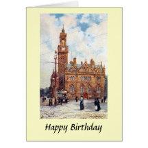 Birthday Card - Town Hall, Bradford, Yorkshire Greeting Card