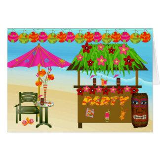 Birthday Card-Tropical Beach Party