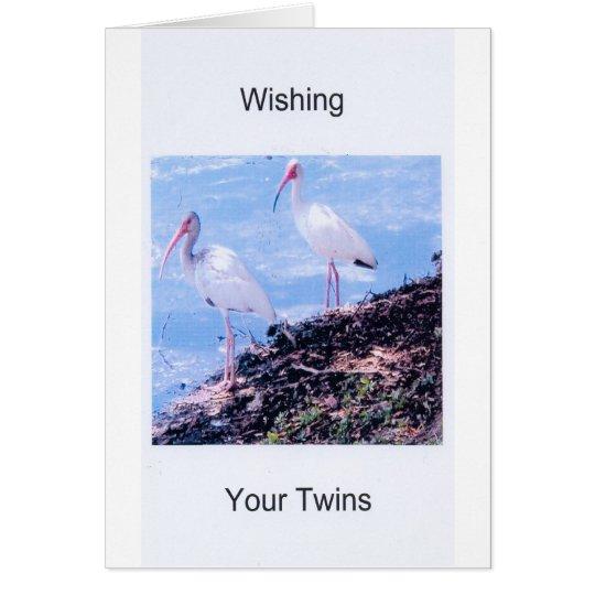 Birthday Card-Twins Card