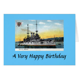 Birthday Card - USS Alabama