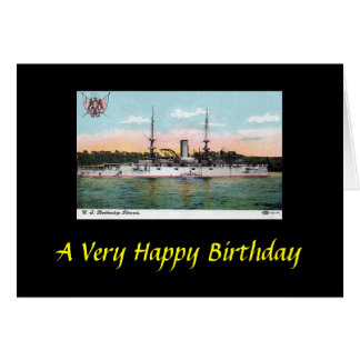 Birthday Card - USS Illinois
