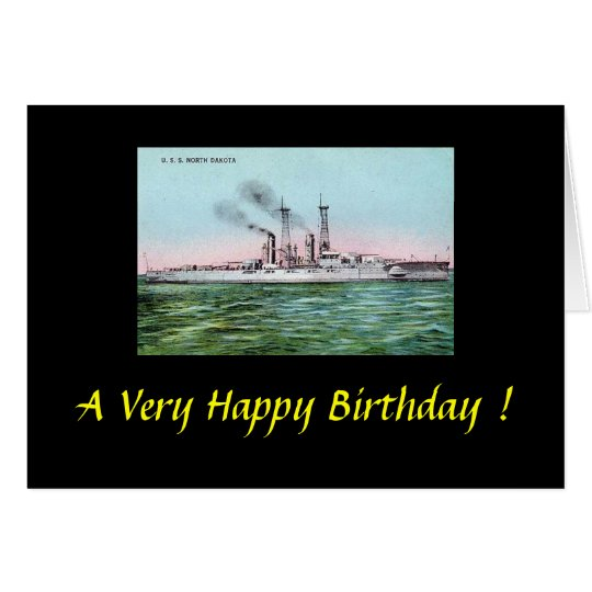 Birthday Card - USS North Dakota