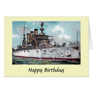 Birthday Card - USS Rhode Island