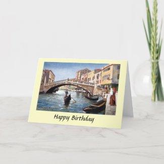 Birthday Card - Venice, Italy