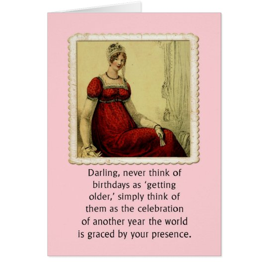 Birthday Card Vintage Ackerman Lady Humour
