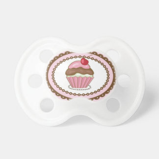 Birthday card with cupcake pacifiers
