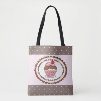 Birthday card with cupcake tote bag