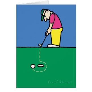 Birthday card with golf theme