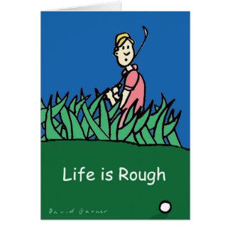 Birthday card with golfer illustration