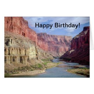 Birthday card with Grand Canyon joke