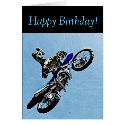 dirt bike happy birthday card for dirt bike rider card 1248306