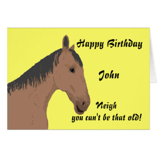 Birthday Card, with horse.Personalize Greeting Card