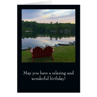 Birthday Card - With image from Boothbay, Maine
