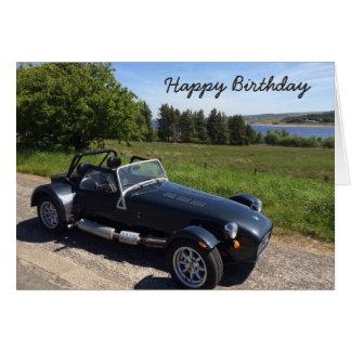 Birthday card with sports car