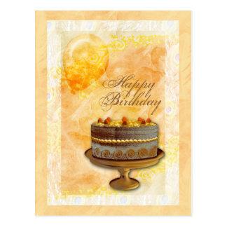 Birthday card women cake balloons postcards
