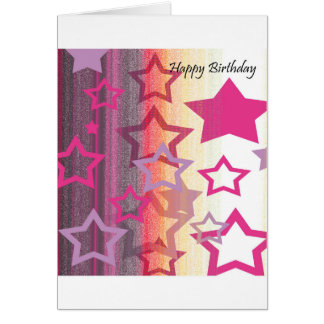 Birthday Card - You're a Star! (Pink, Black)