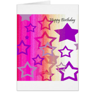 Birthday Card - You're a Star! (Pink, Purple)