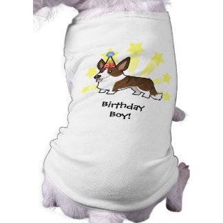 Birthday Cardigan Welsh Corgi Sleeveless Dog Shirt