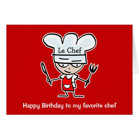 Birthday cards for chefs & cooks - Buy