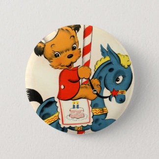 Birthday Carousel 6 Cm Round Badge