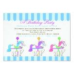 Birthday Carousel Ponies Personalised Invites