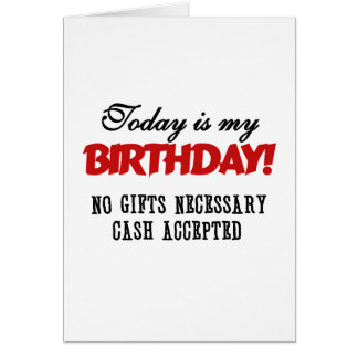 Birthday Cash Accepted Card